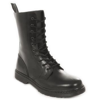 Stiefel - Boots & Braces - 10 Loch - ohne Stahl - schwarz