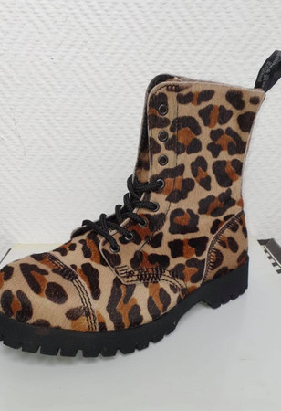 Stiefel - Boots & Braces - 8 Loch - Leopard