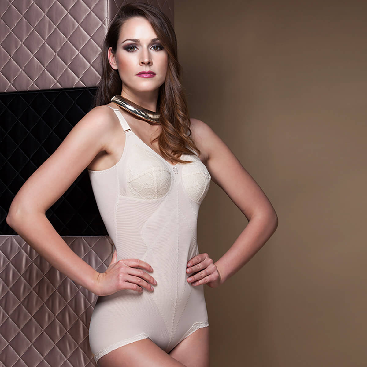 Miss Perfect Dessous Body Trim Korselett ohne Bügel