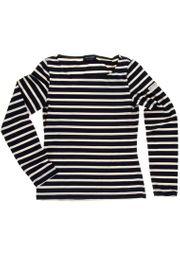 Saint James Damen Langarmshirt Geyser II - Streifenshirt - Bretagne-Shirt 001
