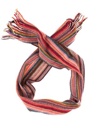 William Lockie Unisex Schal Scarf striped Lambswool – Bild 2