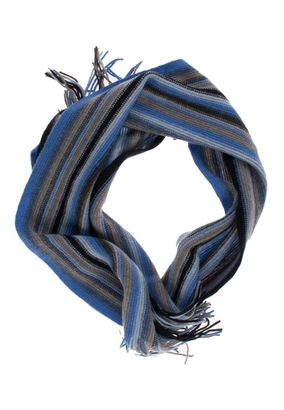 William Lockie Unisex Schal Scarf striped Lambswool – Bild 3