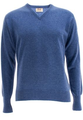 William Lockie Herren Cashmere Pullover Oxton Vee Neck – Bild 1