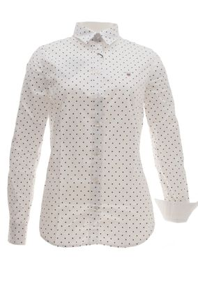 Gant Bluse Stretch Oxford Print Dot Shirt – Bild 3