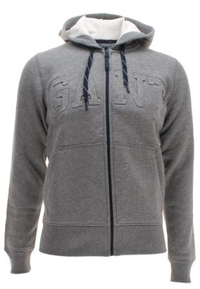 Gant Herren Strickjacke mit Kapuze Full Zip Sweat Hoodie