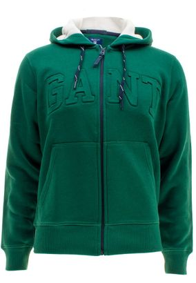 Gant Herren Strickjacke mit Kapuze Full Zip Sweat Hoodie – Bild 3
