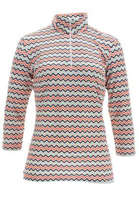 Saint James Damen Langarm Shirt mit Reißverschluss Emilie – Bild 1