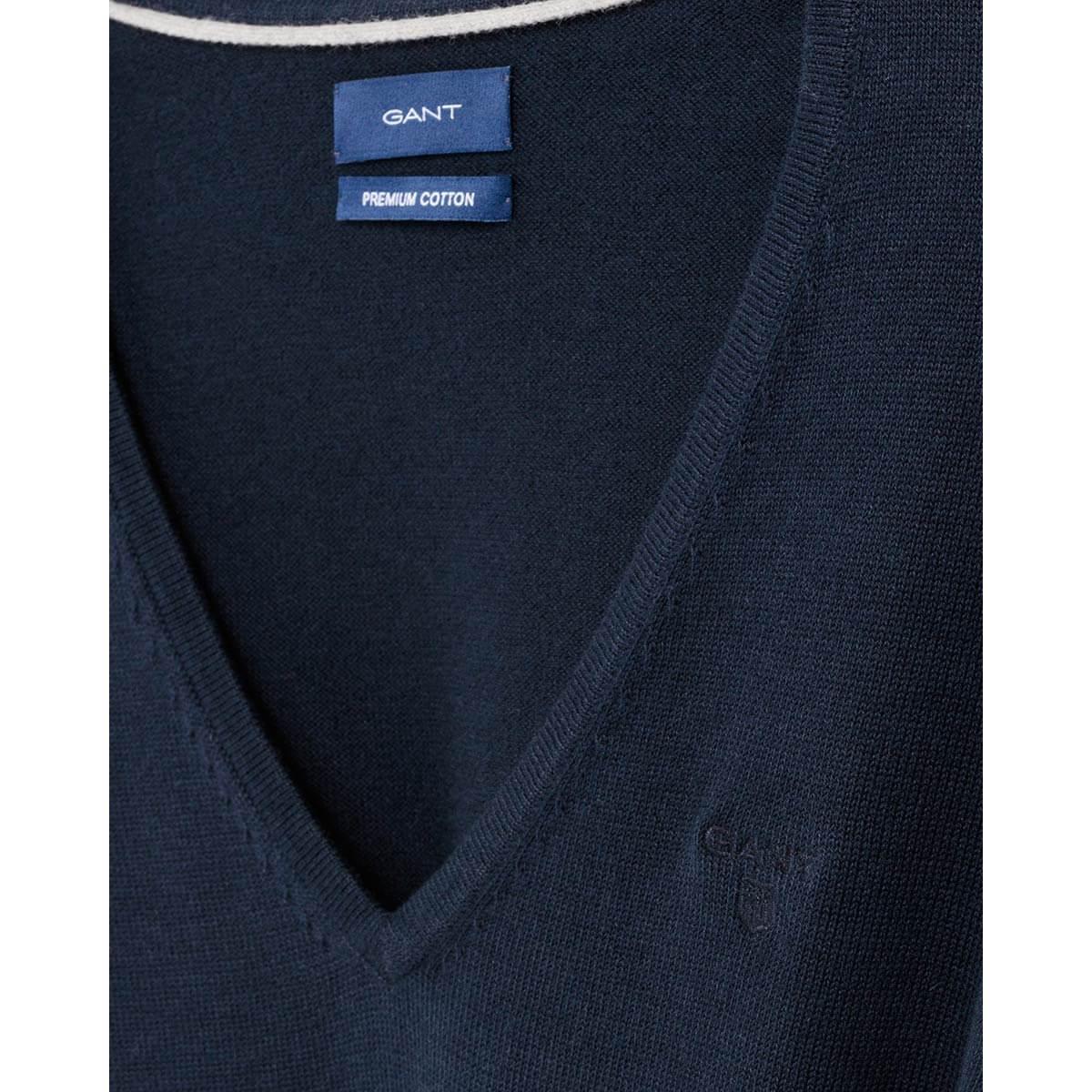 sale retailer 9250a 8a078 Gant Damen Baumwoll Pullover mit V Ausschnitt
