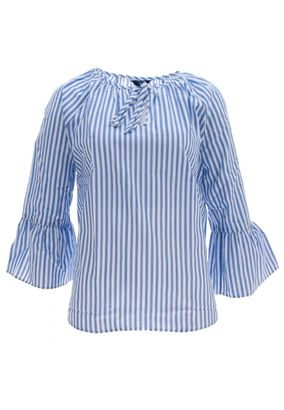 Gant Damen Bluse Striped Ruffled Sleeve Blouse – Bild 1