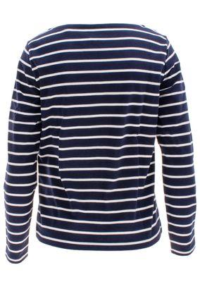 Gant Damen Langarm Shirt Rundhals Breton Stripe Boatneck Jumper – Bild 2