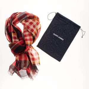 Saint James Unisex Tuch kariert Foulard Carreax – Bild 4