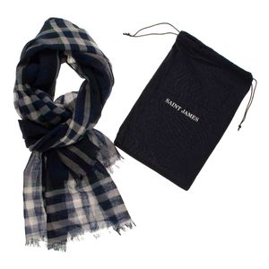 Saint James Unisex Tuch kariert Foulard Carreax – Bild 2