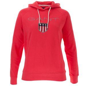 Gant Damen Kapuzenpullover Shield Sweat Hoodie – Bild 3