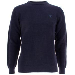 Gant Herren Pullover Rundhals aus Baumwolle – Bild 1