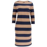 Gant Damen Kleid gestreift Striped Boatneck Dress 001