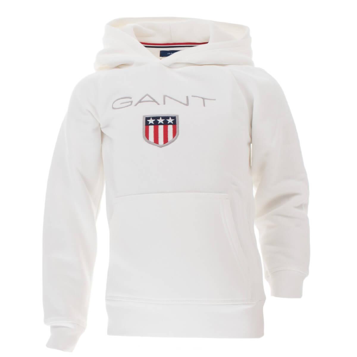 GANT Kinder Unisex Kapuzenpullover Hoodie Shield Logo