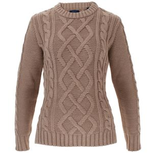 Gant Damen Strick Pullover Rundhals Cotton Cable