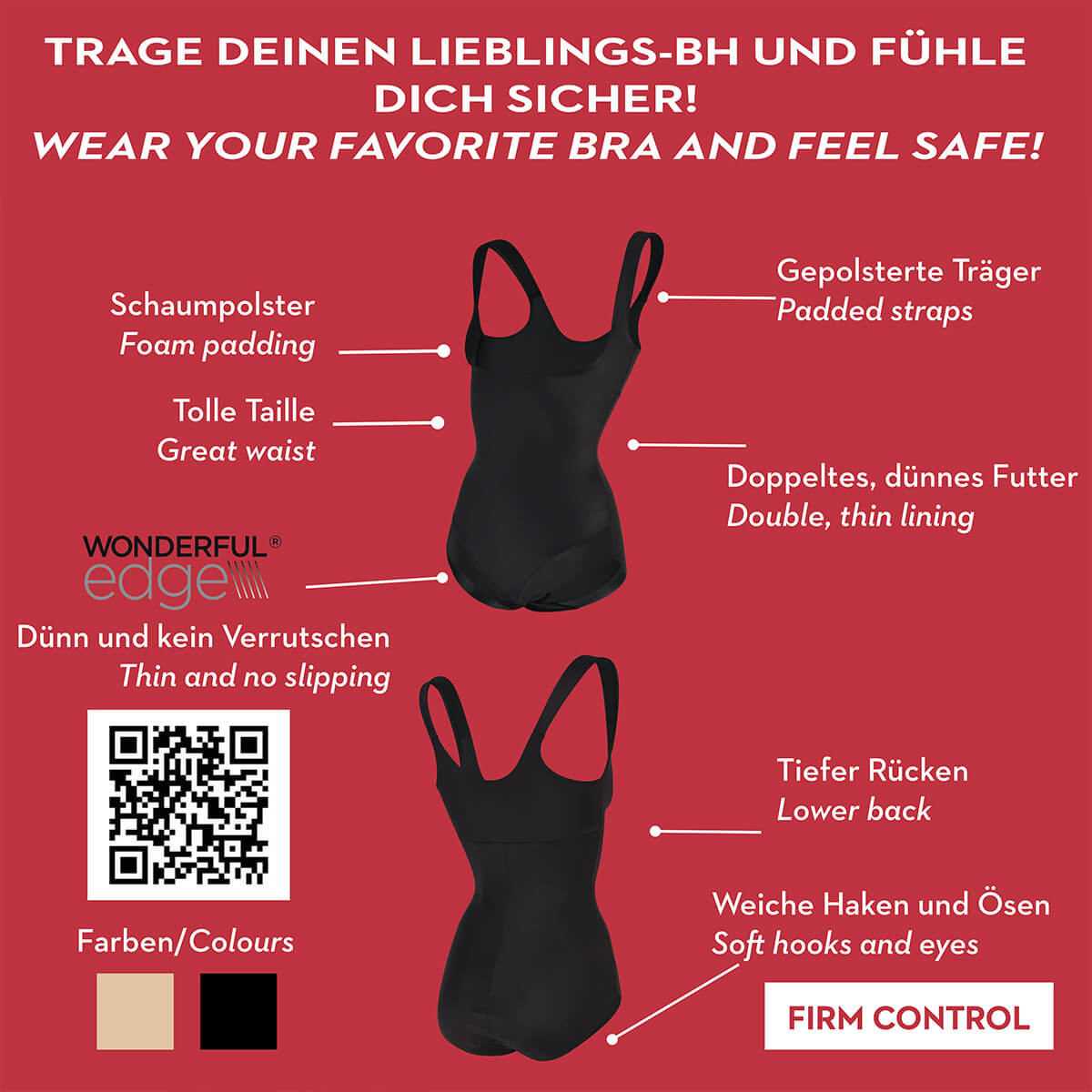 S-XXL Bauchweg Body Damen Body Shaper Damen Miederbody Bauch Weg Shape Body Miss Perfect TC Shapewear Damen Back Magic Firm Control