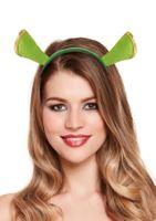Kopfschmuck Haarreif mit Ohren Grün Oger Kostüm-Zubehör  001
