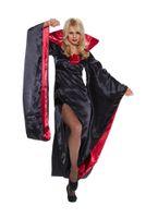 Damen Kostüm Lady Dracula Kleid mit Fledermausärmeln 001