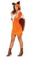 Fuchs Damen Kostüm Foxy Girl mit Kunstfell 001
