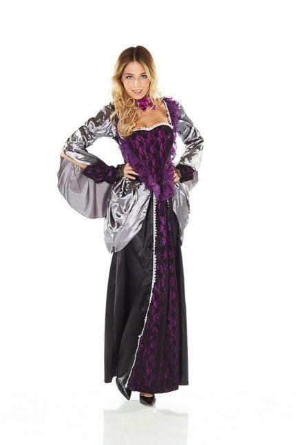 Kostüm Evil Queen Schwarz/Lila – Bild 2
