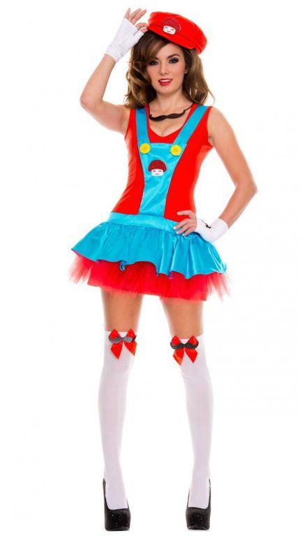 Damen-Kostüm SEXY KLEMPNER 1 Super Mario – Bild 3