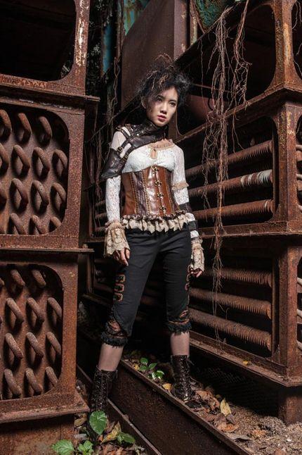 Steampunk EINSEITIGE ARMSTULPE Kunstleder – Bild 4