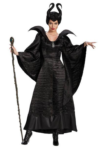 Damen Kostüm Maleficent schwarz
