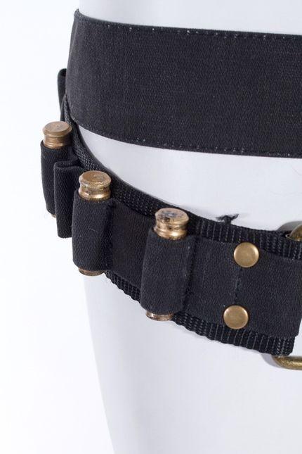 Steampunk Baumwoll-Gürtel mit Tasche und Pistolen-Kugeln – Bild 3