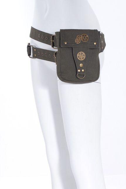 Steampunk Baumwoll-Gürtel mit Tasche und Pistolen-Kugeln – Bild 6