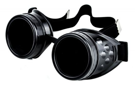 Steampunk BRILLE - SCHWARZ Goggles