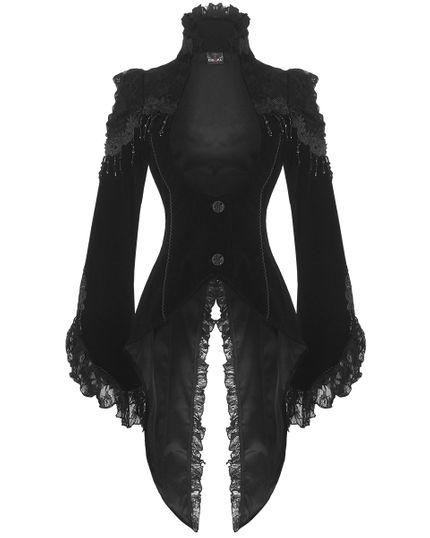 Steampunk / Gothic Damen Samt-Frack (21119)