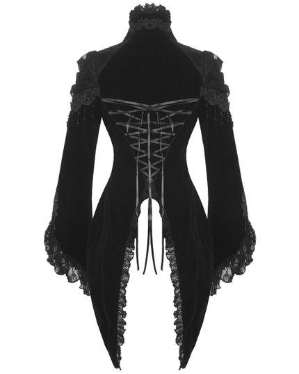 Steampunk / Gothic Damen Samt-Frack (21119) – Bild 2