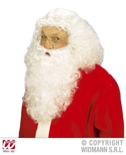 Hochwertige Weihnachtsmann Perücke mit Bart – Bild 1
