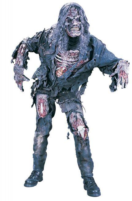 Zombie Deluxe 3D Kostüm für Herren und Teenager