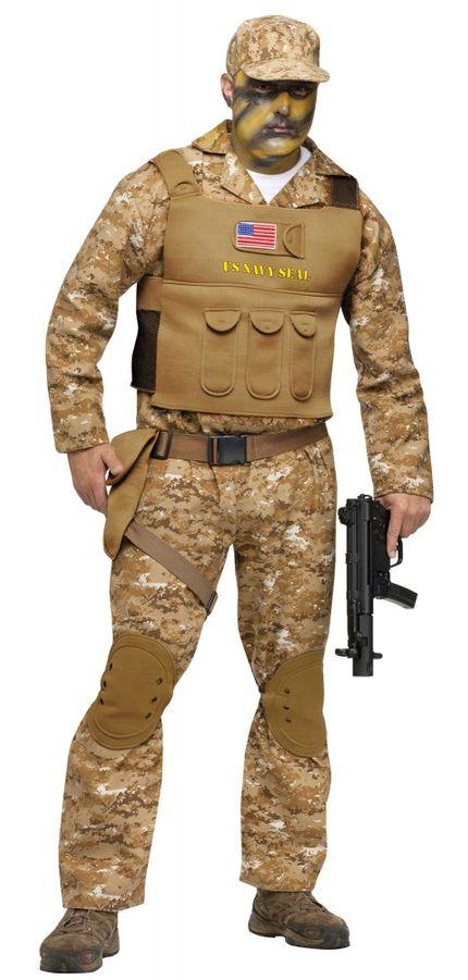 Kostüm Navy Seal für Herren und Teenager