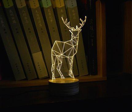 Ausgefallene Tischlampe im Rentier Design - klein – Bild 3