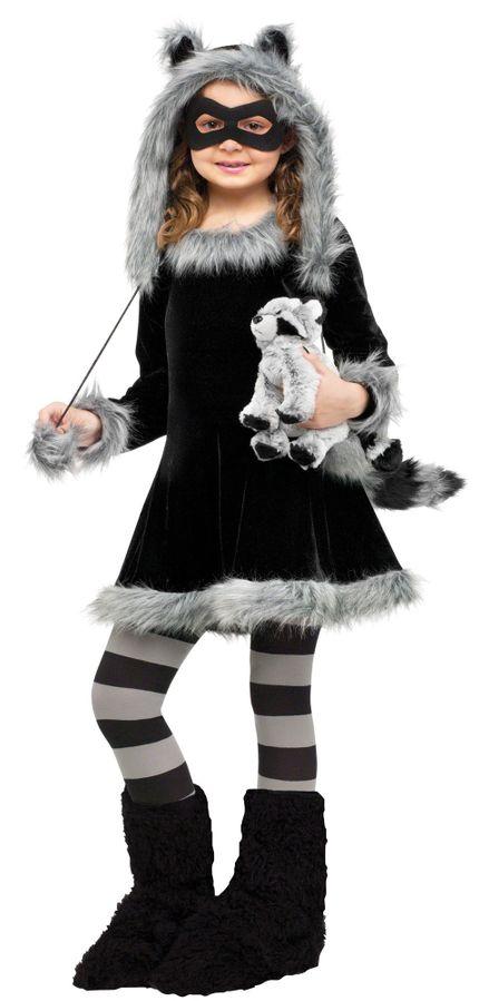 Mädchen Kostüm - Waschbär Fuzzy
