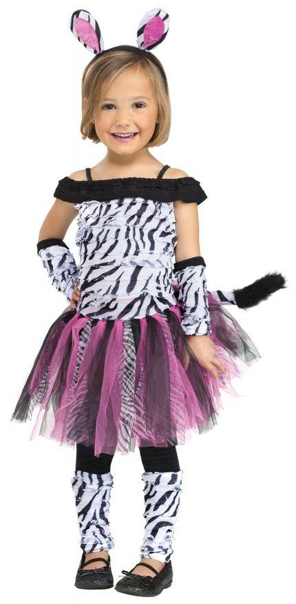 Mädchen Kostüm - Zebra Fuzzy