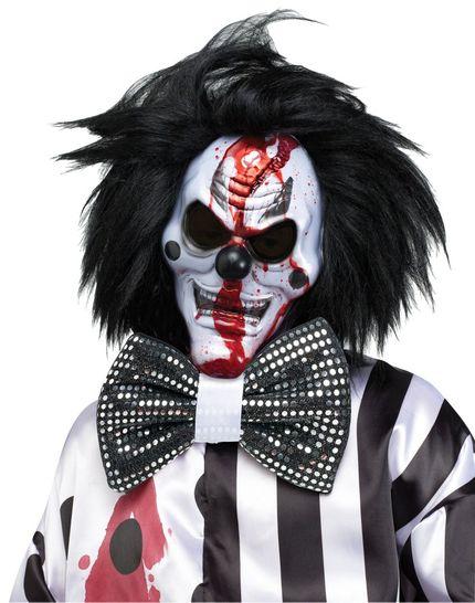 Killer Clown Kostüm mit blutender Maske inklusive Pumpe  – Bild 4