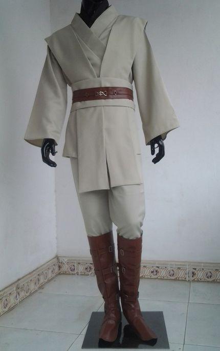 Deluxe Star Wars HERREN KOSTÜM Obi-Wan Kenobi Komplettset 9-teilig – Bild 3