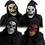Totenkopf Maske mit Kaputze Halloween Horror Skull Tod