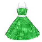 50er Jahre Rockabilly Kleid Kathy Grün/Weiß 001