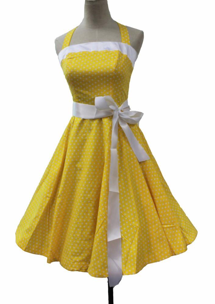 Rockabilly 50er Kleid Jahre Sunny Gelb QsrthdC