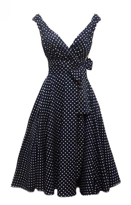 50er Jahre Rockabilly Kleid Dolly Schwarz – Bild 1