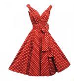 50er Jahre Rockabilly Kleid Dolly Rot