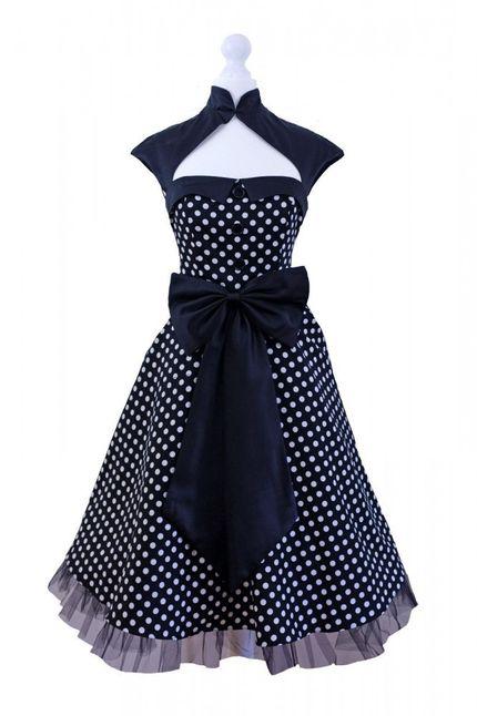 50er Jahre Rockabilly-Kleid 50's Vintage - Betty Schwarz (ohne) – Bild 3