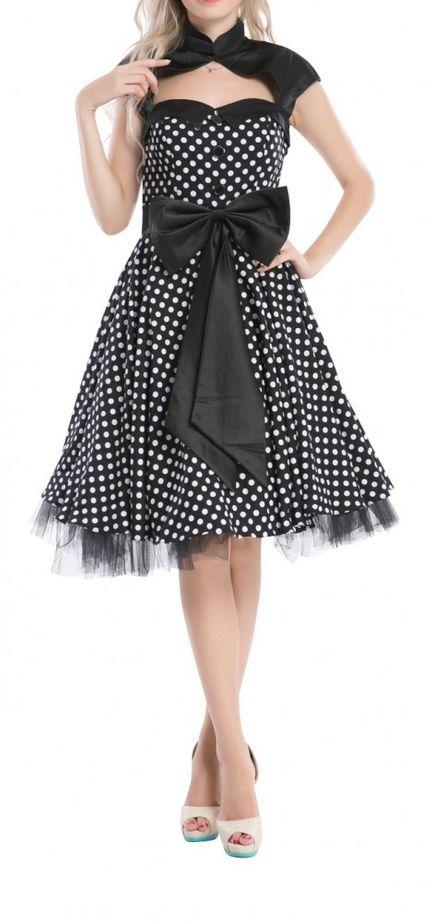50er Jahre Rockabilly-Kleid 50's Vintage - Betty Schwarz (ohne) – Bild 1