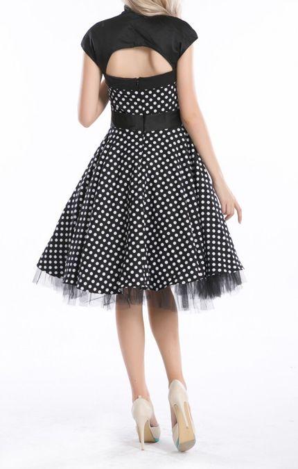 50er Jahre Rockabilly-Kleid 50's Vintage - Betty Schwarz (ohne) – Bild 2